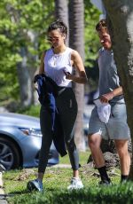 NINA DOBREV Heading to a Gym in Los Angeles 04/19/2021
