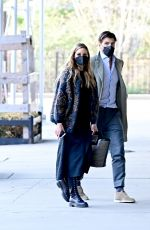 OLIVIA PALERMO and Johannes Huebl Out Kissing in New York 04/08/2021