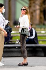 OLIVIA PALERMO Out with a Friend at Washington Square Park in New York 03/31/2021