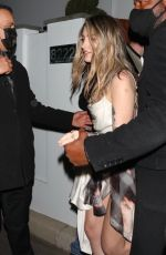 PARIS JACKSON and CARA DELEVINGNE Leaves am Oscars Party in Bel Air 04/25/2021