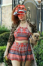 PHOEBE PRICE Out with Her Dog in Los Angeles 04/06/2021