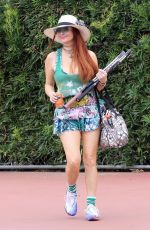 PHOEBE PRICE Playing Tennis in Los Angeles 04/09/2021