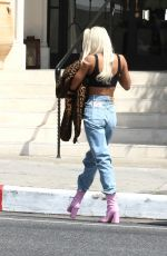 PIA MIA PEREZ Out and About in Los Angeles 04/12/2021