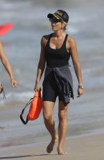 PIP EDWARDS Out on Bondi Beach in Sydney 04/07/2021