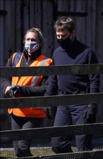 POM KLEMENTIEFF, HAYLEY ATWELL and Tom Cruise on the Set as Mission Impossible 7 in Yorkshire 04/23/2021