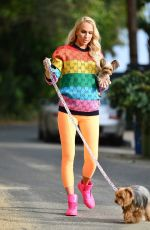 Pregnant CHRISTINE QUINN Out with Her Dogs in Los Angeles 04/13/2021
