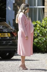 Pregnant GEORGIA KOUSOULOU at a Photoshoot in Essex 04/27/2021