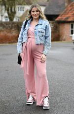 Pregnant GEORGIA KOUSOULOU on the Set of The Only Way is Essex 03/28/2021