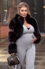 Pregnant LAUREN GOODGER Out in Essex 04/12/2021