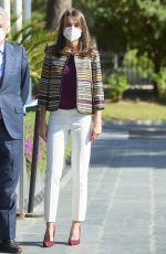 QUEEN LETIZIA OF SPAIN at Mutua Madrilena Foundation Headquarters in Madrid 04/07/2021
