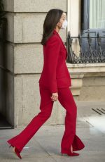 QUEEN LETIZIA OF SPAINE Out and About in Madrid 04/12/2021