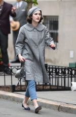 RACHEL BROSNAHAN on the Set of The Marvelous Mrs Maisel in New York 04/27/2021