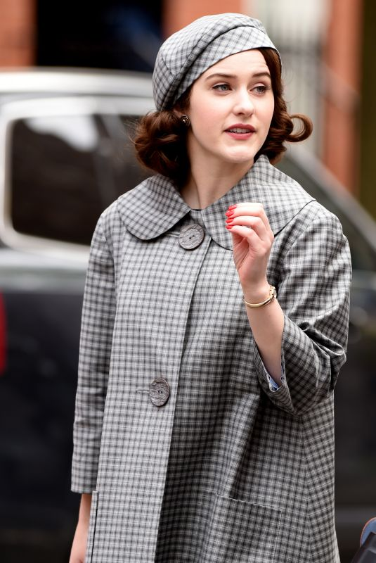 RACHEL BROSNAHAN on the Set of The Marvelous Mrs Maisel in New York 04/27/2021