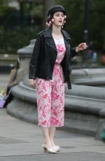 RACHEL BROSNAHAN on the Set of The Marvelous Mrs. Maisel in Washington Square Park in New York 04/29/2021