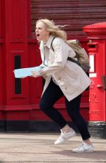 REBEL WILSON on the Set The Almond and the Seahorse in London 04/26/2021