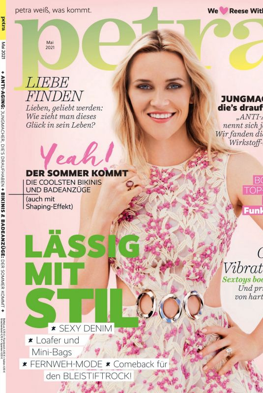 REESE WITHERSPOON in Petra Magazine, May 2021