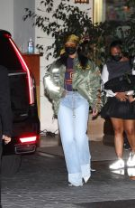 RIHANNA Leaves Oscar Party in Los Angeles 04/25/2021