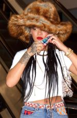 RIHANNA Out and About in Los Angeles 03/31/2021
