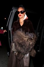 RIHANNA Out for Dinner at Delilah in West Hollywood 04/11/2021