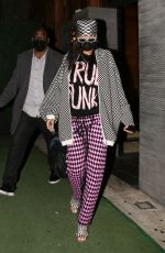 RIHANNA Out for Dinner at Nobu in Los Angeles 04/23/2021