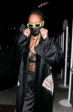RIHANNA Out for Dinner at Wally