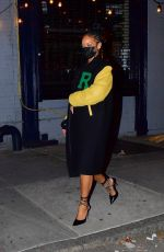 RIHANNA Out for Dinner in New York 04/04/2021