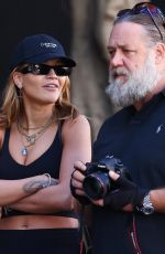 RITA ORA and Russell Crowe at South Sydney Rabbitohs Football Club 04/21/2021