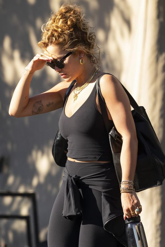 RITA ORA Leaves a Gym in Sydney 04/12/2021