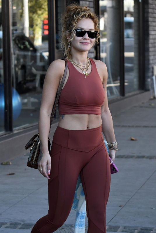 RITA ORA Leaves a Gym in Sydney 04/132/2021