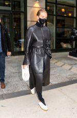 ROSIE HUNTINGTON-WHITELEY Leaves Crosby Hotel in New York 04/15/2021