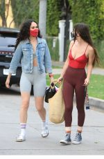 RUMER and SCOUT WILLIS Leaves Pilates Class in Los Angeles 04/13/2021