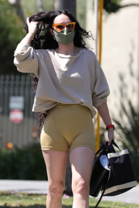 RUMER WILLIS Heading to a Workout in West Hollywood 04/07/2021