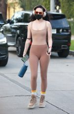 RUMER WILLIS in Tights Leaves Pilates Class in West Hollywood 04/15/2021