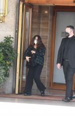 SALMA HAYEK Arrives on the Set of The House of Gucci in Rome 04/02/2021