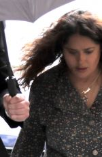 SALMA HAYEK on the Set of House of Gucci in Rome 04/22/2021