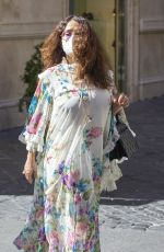 SALMA HAYEK Out and About in Rome 04/02/2021