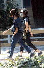 SARA GILBERT and LINDA PERRY Out in Los Angeles 04/15/2021