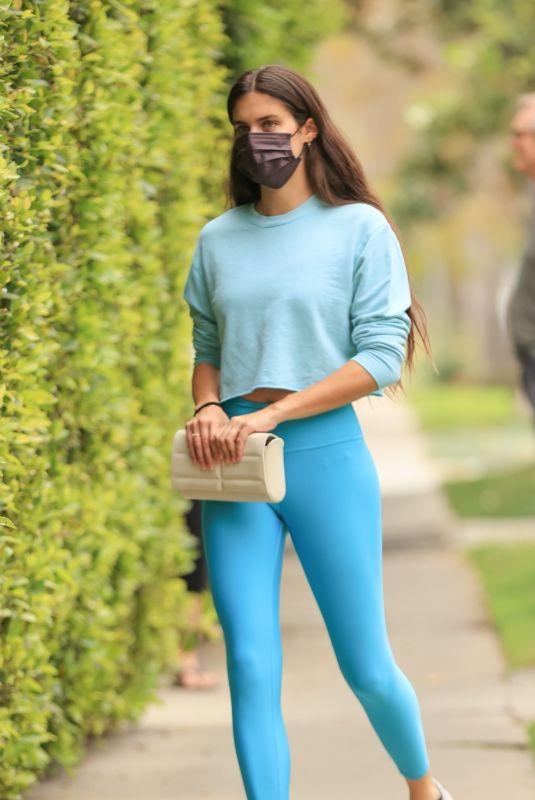 SARA SAMPAIO Heading to Pilates Class in Los Angeles 04/11/2021