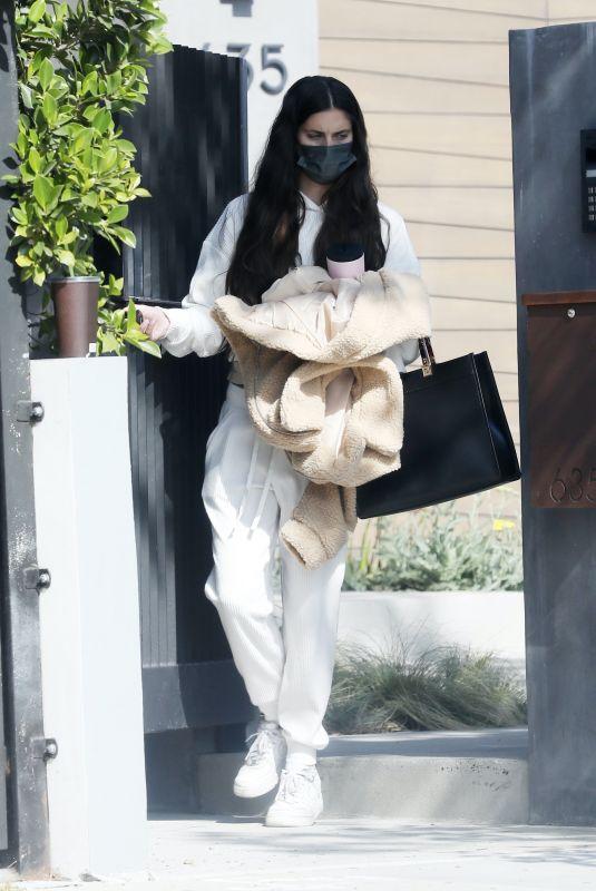 SARA SAMPAIO Leaves Her Home in Los Angeles 04/16/2021