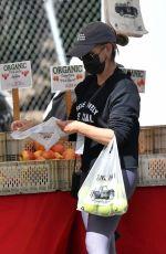 SARAH MICHELLE GELLAR at a Farmers Market in Brentwood 04/18/2021