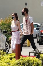 SCOUT WILLIS and Jake Miller Out at Larchmont Village 04/17/2021