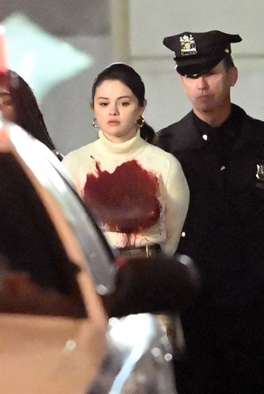 SELENA GOMEZ on the Set of Murders in the Building in New York 04/10/2021
