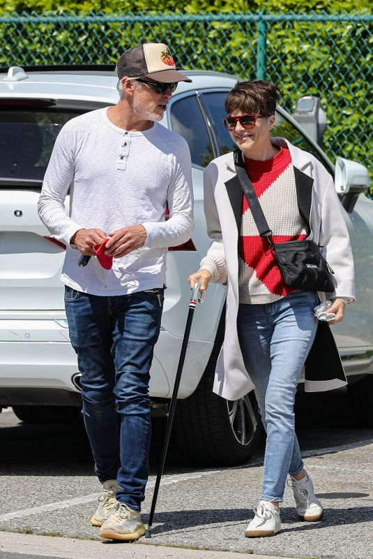 SELMA BLAIR and Ron Carlson Out in Beverly Hills 04/27/2021