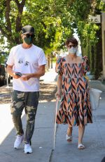 SELMA BLAIR and Ron Carlson Out in West Hollywood 04/29/2021