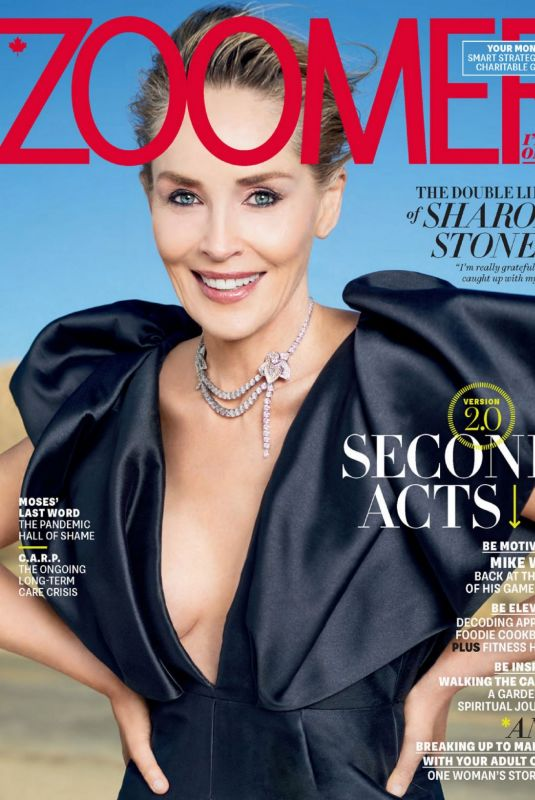SHARON STONE in Zoomer Magazine, April 2021