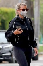 SOFIA RICHIE Arrivers at Pilates Class in West Hollywood 04/21/2021