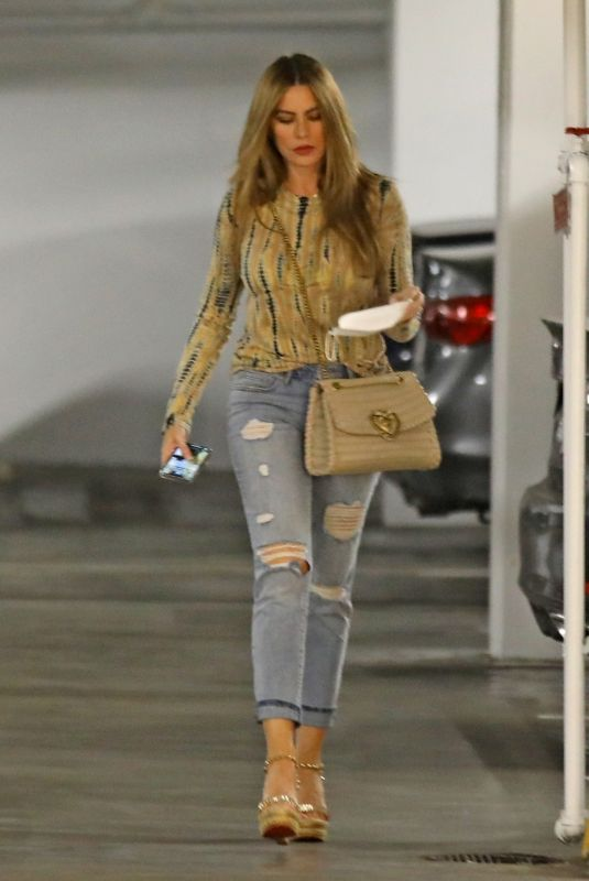 SOFIA VERGARA Arrives at a Business Meeting in Beverly Hills 04/20/2021