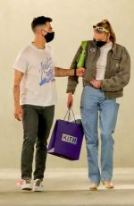 SOPHIE TURNER and Joe Jonas Out Shopping in Los Angeles 04/21/2021