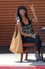 SUFE BRADSHAW Out for Lunch at Kings Cafe in Los Angeles 04/27/2021