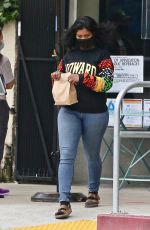 TAYLOR SIMONE LEDWARD Out for Lunch to go in Los Feliz 04/23/2021